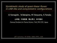 O. Yamagishi : Gyrokinetic study of quasi-linear fluxes