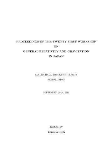 PROCEEDINGS OF THE TWENTY-FIRST WORKSHOP ON ...