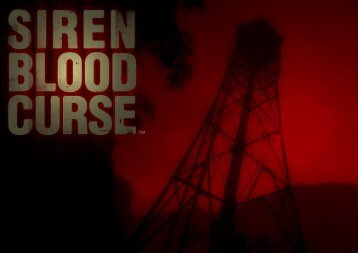 Siren Blood Curse Manual - PlayStation