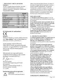 EC-Declaratie de conformitate D23650 DEWALT ... - Tool Store