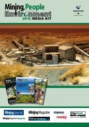 In person… Online… E-mail newsletters… - Mining, People and the ...