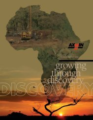 growing through discovery - AXMIN Inc.