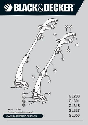 GL280 GL301 GL315 GL337 GL350 - Black & Decker