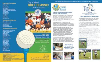 golf classic - The First Tee Miami - Dade Amateur Golf Association