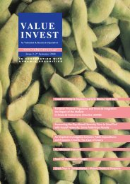 VALUE INVEST - Valuation & Research Specialists