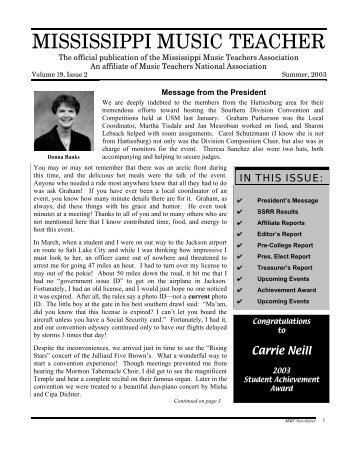 2003 SSRR RESULTS - Mississippi Music Teachers Association