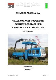 TALLERES ALEGRÍA S.A. TRACK CAR WITH TOWER FOR ...