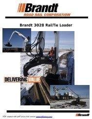 Brandt 3028 Rail/Tie Loader