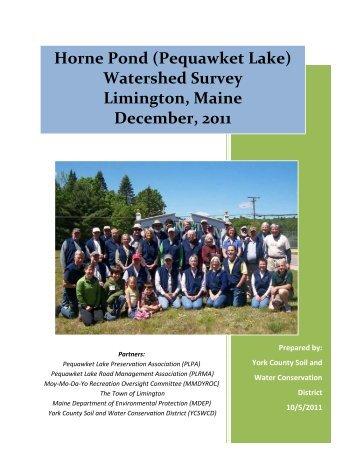 Horne Pond (Pequawket Lake) - York County Soil & Water ...