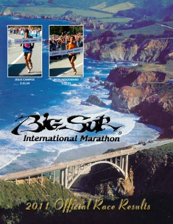 2011 Official Race Results - Big Sur International Marathon
