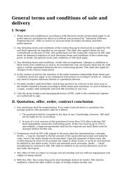 General terms and conditions of sale and delivery - ISE