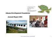Akassa Development Foundation Annual Report 2004 - pro natura ...