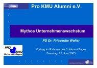 Herausforderung III: Dauerhaftes Wachstum - Universität Siegen