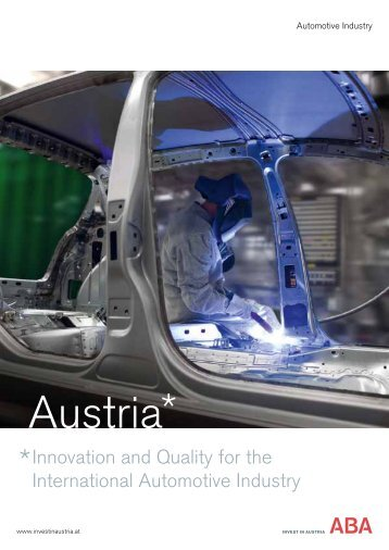 Automotive Industry - ABA - Invest in Austria