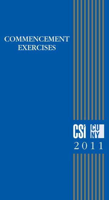 Degree Candidates 2011 - CSI Today