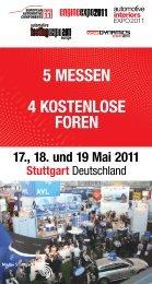 5 MESSEN 4 KOSTENLOSE FOREN - Automotive Testing Expo
