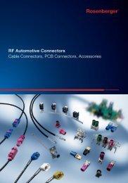 RF Automotive Connectors Cable Connectors, PCB Connectors ...