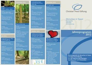Jahresprogramm 2012 zum Downloaden. - Christian Presl-Stiftung
