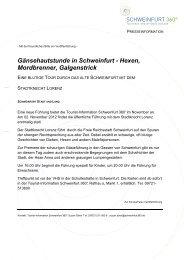 Gänsehautstunde in Schweinfurt - Hexen ... - Schweinfurt 360