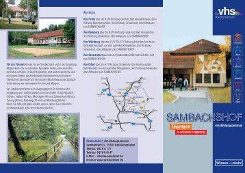 Tagungen - Sambachshof