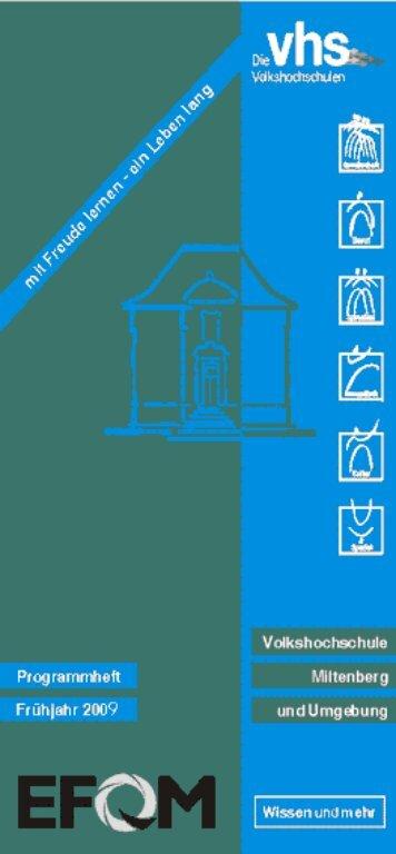 vhs Miltenberg - Programm Frühjahr 2009 - Erfolgsfaktor Familie