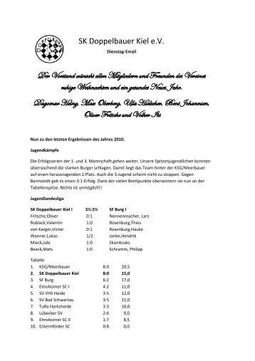 SK Doppelbauer Kiel e.V. Der Vorstand wünscht allen Mitgliedern ...