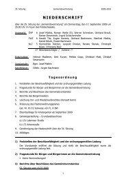 Niederschrift 35. GV Sitzung - Gemeinde Zwischenwasser