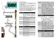 2008 - DAV Sektion Schweinfurt