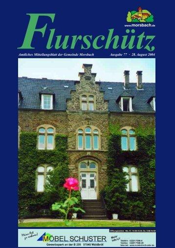77. Ausgabe vom 28.08.2004 - Gemeinde Morsbach