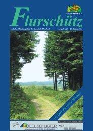 """5 Jahre """"Flurschütz"""" Morsbach - Gemeinde Morsbach"""