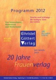 neuerscheinungen - Christel Göttert Verlag