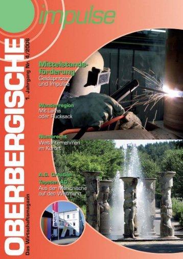 Oberbergische Impulse IV / 2006 - Gründer
