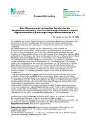 Presseinformation - Regionalentwicklung Westallgäu-Bayerischer ...