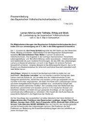 Pressemitteilung vom 7. Mai 2012 - Bayerischer ...