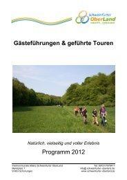 Gästeführungen & geführte Touren Programm 2012 - Schweinfurter ...