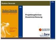 Studium Generale - Bayerischer Volkshochschulverband