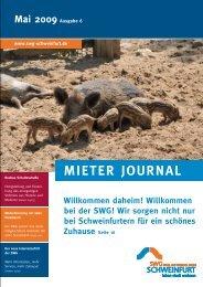 Mieter Journal der SWG - und Wohnbau GmbH Schweinfurt