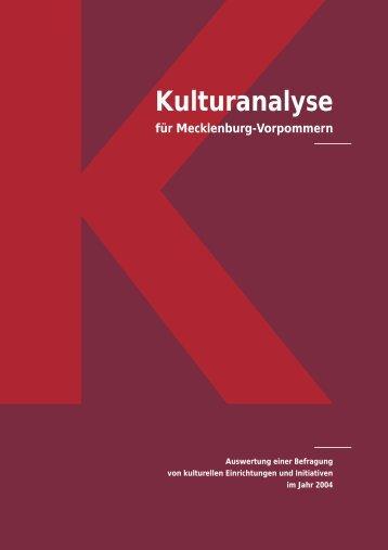 Kulturanalyse MV gesamt - Kulturportal