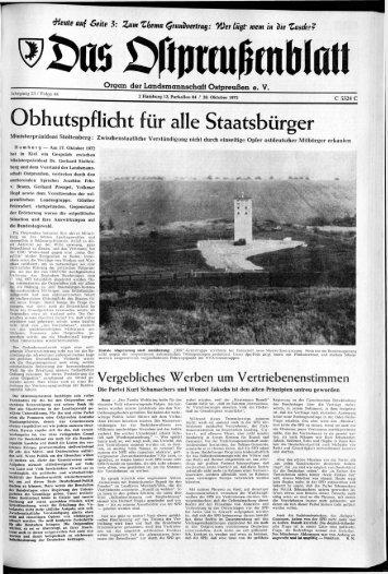 Folge 44 vom 28.10.1972 - Archiv Preussische Allgemeine Zeitung