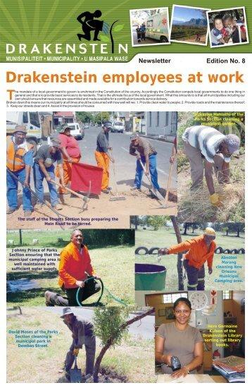 Newsletter Drakenstein Employees At Work