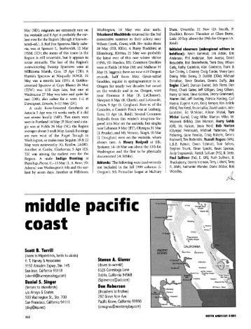Woodley. • middle pacific coast