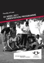 Law Orient brochure.indd - University of Johannesburg