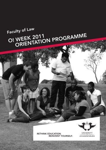 Law Orient brochure.indd - University of Johannesburg