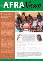 Ukwakhiwa kwe Land Use Plan emiphakathini - AFRA