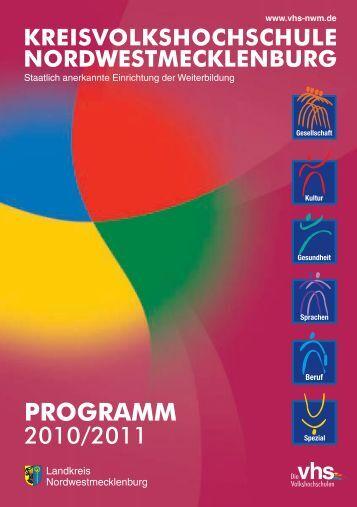 PROGRAMM Herbst 2010 Frühjahr 2011 - Kreisvolkshochschule ...