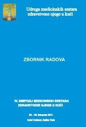 Zbornik radova simpozija - Udruga medicinskih sestara zdravstvene ...