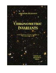 Chronometric Invariants - Abraham Zelmanov Journal - Progress in ...