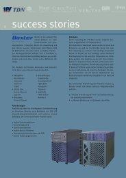 Success-Story Baxter HA-Datenbank / Backup-Solution - IPS GmbH