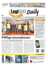 KNAPP und Fashion-Logistik - LogiMAT 2013