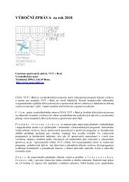 VÝROČNÍ ZPRÁVA za rok 2010.pdf - Centrum sportovních aktivit